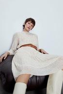 Fashion womens dress wholesale Polka Dot Long Sleeve Long Dress with Spring Belt NHAM200138