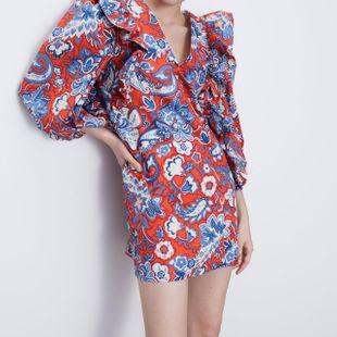 Fashion Wholesale New Ladies Laminated Printed Dress  NHAM200143's discount tags