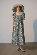 Fashion Wholesale Midi Puff Sleeve Print Dress  NHAM200151