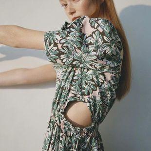 Fashion women's dress wholesale spring printed poplin temperament dress NHAM200159's discount tags