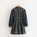Fashion womens dress wholesale new plaid mesh sleeve dress NHAM200173