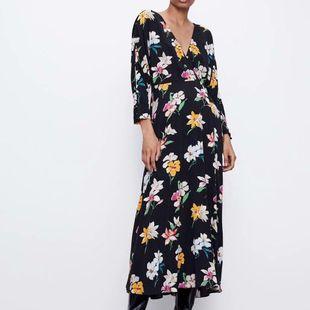 Fashion women's dress new fashion flower print dress wholesale NHAM200176's discount tags