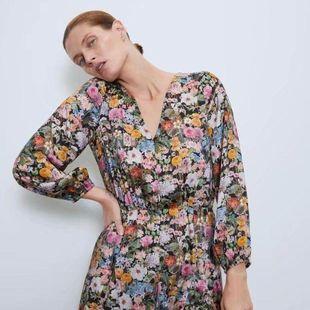 Fashion women's dress wholesale spring loose print long sleeve dress NHAM200181's discount tags