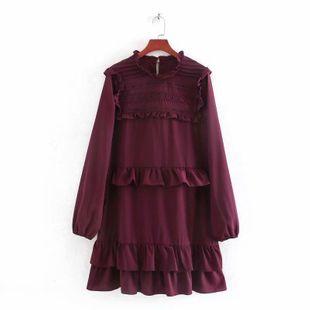 Fashion women's dress wholesale new ruffled long sleeve dress NHAM200196's discount tags