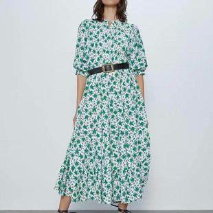 Fashion women's dress new fashion flower print dress wholesale NHAM200199's discount tags