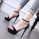 Summer new word with open toe sandals super high heel stiletto platform womens shoes NHSO200243