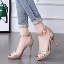 Summer new womens shoes flat buckle open toe sandals stiletto high heel wild sandals NHSO200245