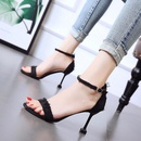 Korean version of the new stiletto sandals with open toe high heel rhinestone ladies shoes NHSO200249