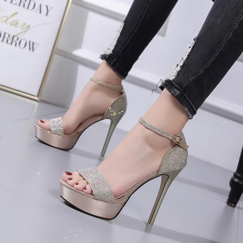 Summer new open-toe super-heeled sandals whoelsales fashion  NHSO200254