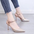 Summer Korean new style rhinestone pointed highheeled shoes with stiletto sandals womens shoes NHSO200258