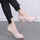 Spring and summer new fish mouth highheeled shoes with wild waterproof platform thick soles NHSO200266