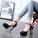 Fashion new womens shoes single buckle ultrahigh heel stiletto waterproof platform single shoes wholesale NHSO200268