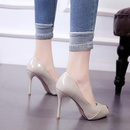 Spring and summer new fish mouth single shoes shallow mouth thin heel womens shoes high heel sexy professional work shoes NHSO200270