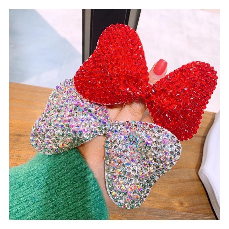 Korean simple high elastic full diamond big bow ponytail hair band elastic hair band hair rope NHHD200288