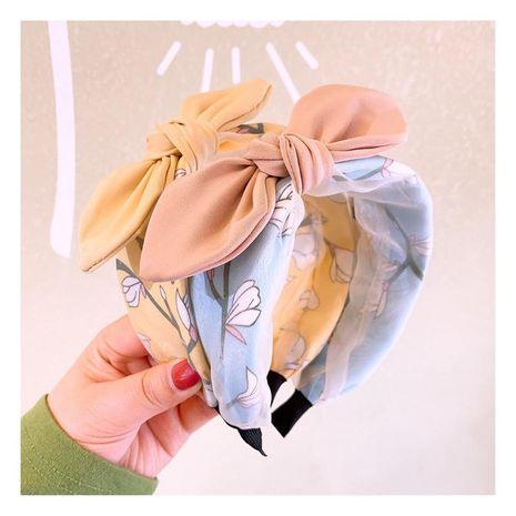 Korean new retro fashion small fresh flowers plain bow hair hoop wild card NHHD200289's discount tags