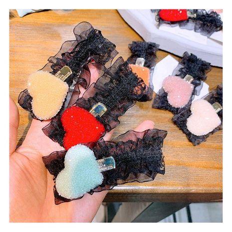 Korean vintage lace crystal full of diamonds love wild cute fairy hairpin duckbill clip NHHD200290's discount tags
