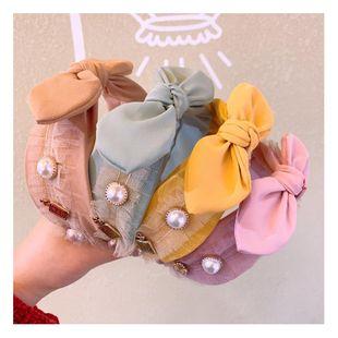 Korea Sweet Girl Pearl Wide Edge Hair Band Headband Hairpin Wholesale NHHD200291's discount tags