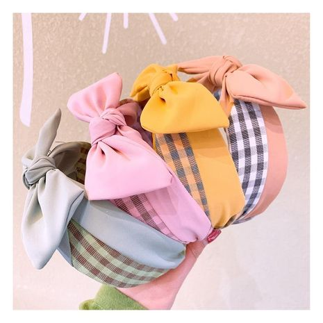 Retro Houndstooth Contrast Stitching Hoop Simple Trendy Hairpin Hair Accessories NHHD200295's discount tags