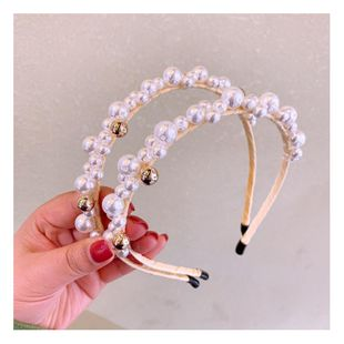 Korean retro handmade pearl full diamond fairy wild headband goose yellow small fresh hairpin NHHD200296's discount tags