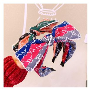 Korean alphabet lace literary wide edge bow hair band female headband hairpin NHHD200297's discount tags