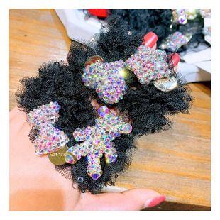 Vintage lace full diamond bow love bear cute wild hair ring headdress NHHD200306's discount tags