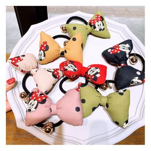 Korean wild cute little cute Mickey stereo bread bow hair ring head rope NHHD200309's discount tags