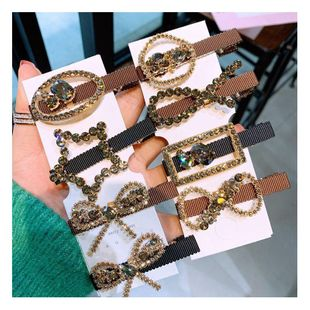 Korean simple geometric diamond side hair clip simple clip headdress bangs word clip NHHD200313's discount tags