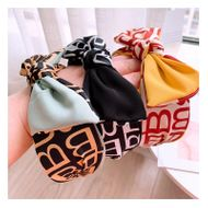 Vintage English Alphabet Wide Edge Color Matching Big Bow Hair Band Wild Card Accessories NHHD200319