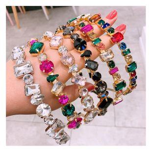 Korean full diamond hair hoop fashion super flash transparent diamond wild card accessories NHHD200326's discount tags