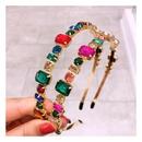 Korean full diamond hair hoop fashion super flash transparent diamond wild card accessories NHHD200326