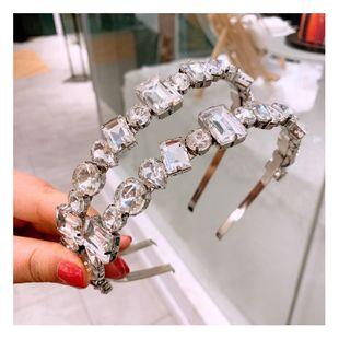 South Korea's new flash diamond wild oblique diamond square diamond hairpin fashion accessories NHHD200330's discount tags