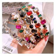Barroco coreano Diamante completo Bling Discoteca Diadema salvaje Accesorios de horquilla NHHD200333