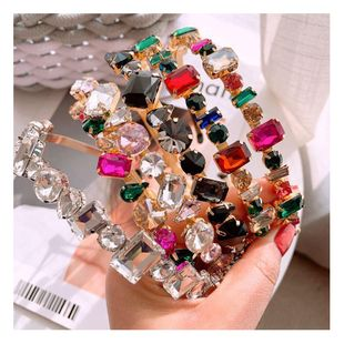 Korean Baroque Full Diamond Bling Nightclub Wild Headband Hairpin Accessories NHHD200333's discount tags