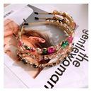 Korean Baroque Full Diamond Bling Nightclub Wild Headband Hairpin Accessories NHHD200333