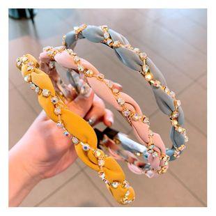 Fashion hair hoop wholesale cross rhinestone super flash plain hair hoop hairpin NHHD200340's discount tags