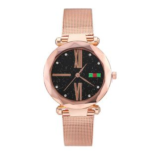 Starry Sky Watch Fashion Roman Scale Mesh Quartz Watch Digital Women's Watch NHLN200352's discount tags