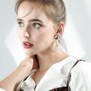 Fashion 925 Silver Stud Earrings Fan Shaped Brushed Earrings Women39s Earrings NHPP200363