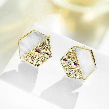 Fashion women's earring wholesale Hexagon Geometric Shining Earrings Retro Simple Earrings NHPP200364's discount tags