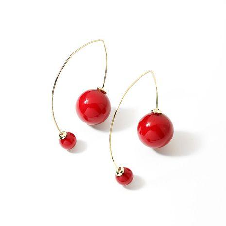 Fashion earrings imitation pearl beads high-end earrings women wholesale NHPP200366's discount tags