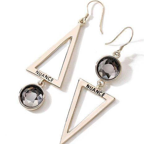 Fashion women's earring wholesale925 silver needle ear hook geometric asymmetry high sense earring women NHPP200367's discount tags