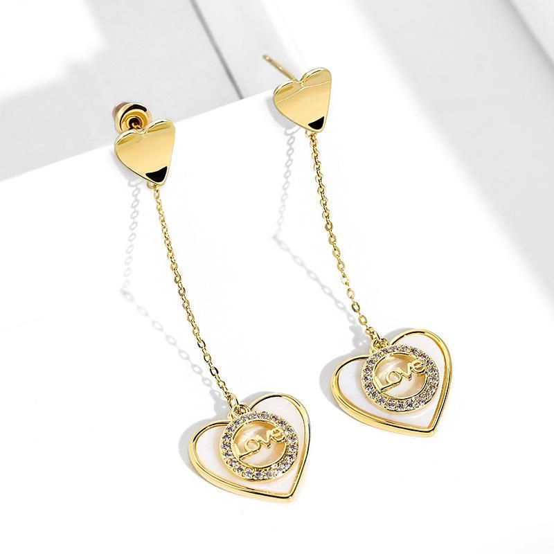 Fashion women's earring wholesale925 silver pin elegant love love earrings new long fashion earrings NHPP200370