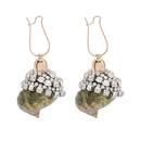 Exaggerated fashion personality rhinestone diamond conch shell earrings female summer ocean beach wind earrings NHJE200374