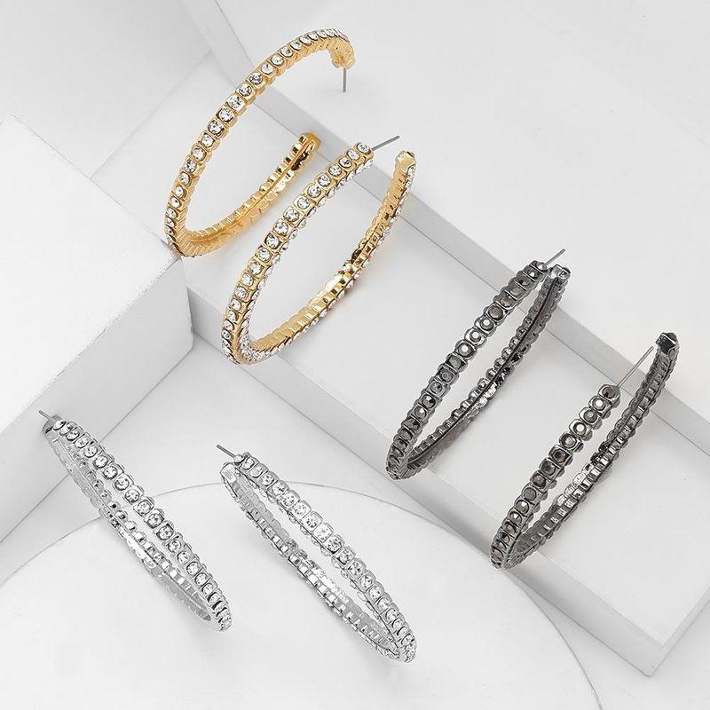 earrings new earrings alloy diamond rhinestone C-shaped earrings female NHJE200375