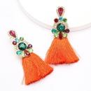 New alloy earrings with diamonds rhinestones and diamonds womens retro ethnic earrings NHJE200376