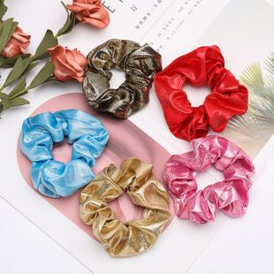 Simple wild hair wavelet point cloth fabric Korean hair ring wholesale NHJE200377's discount tags