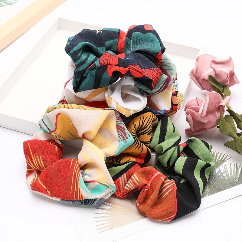 New fashion flower pattern fabric Korean hair ring literary hair ring wholesale NHJE200378