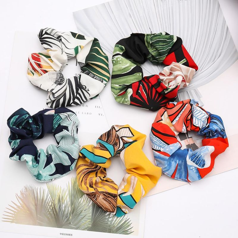 Fashion flower pattern cloth fabric hair ring female Korean temperament hair band rubber band wholesale NHJE200379