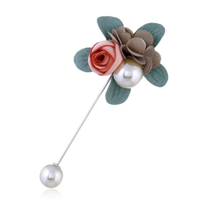 Fashion yarn rose pearl brooch dress suit brooch brooch for men and women NHJJ200390