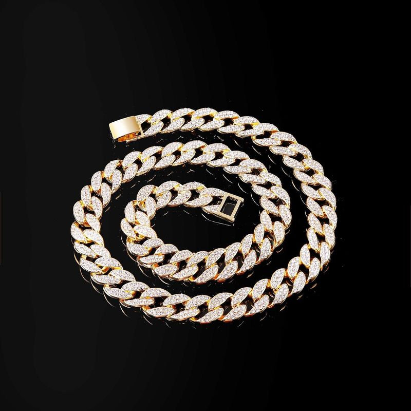 New necklace fashion hiphop full diamond thick chain necklace NHJJ200397