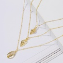 Fashion womens necklace wholesale new bohemian shell multilayer necklace NHJJ200399